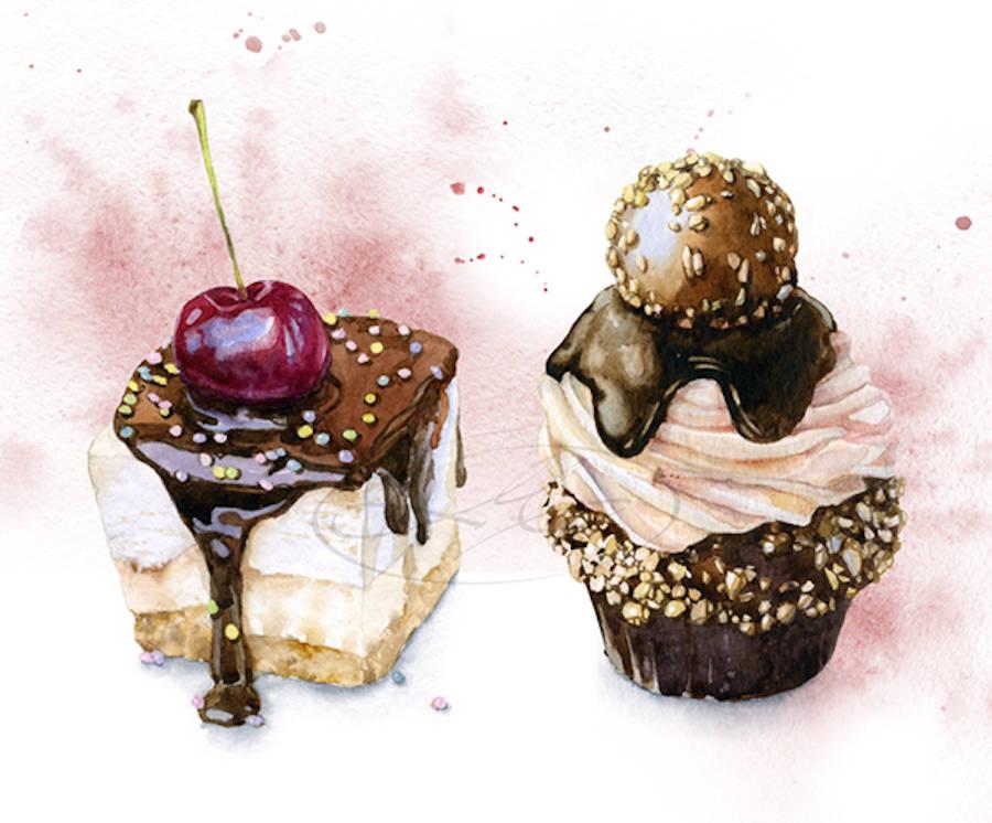 Exquisite Food Illustrations by Olga Moskaleva