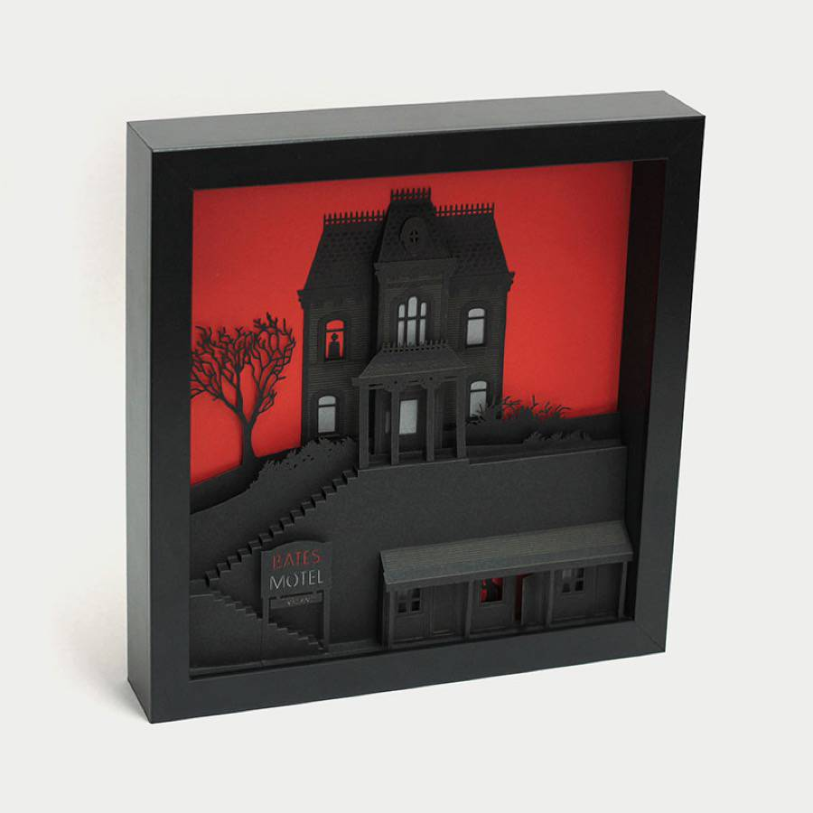 Three Dimensional Paper Art Inspired by Movies