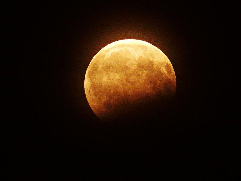Затмение кровавой луны 07.08.2017 г