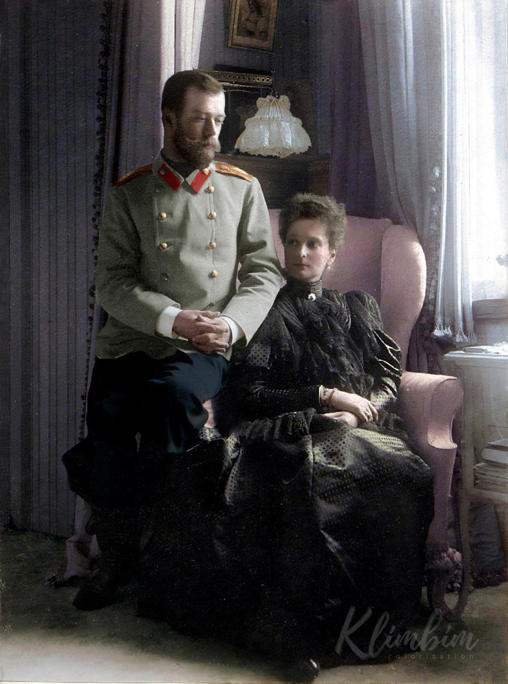 Император Николай II и Александра Федоровна. 1899