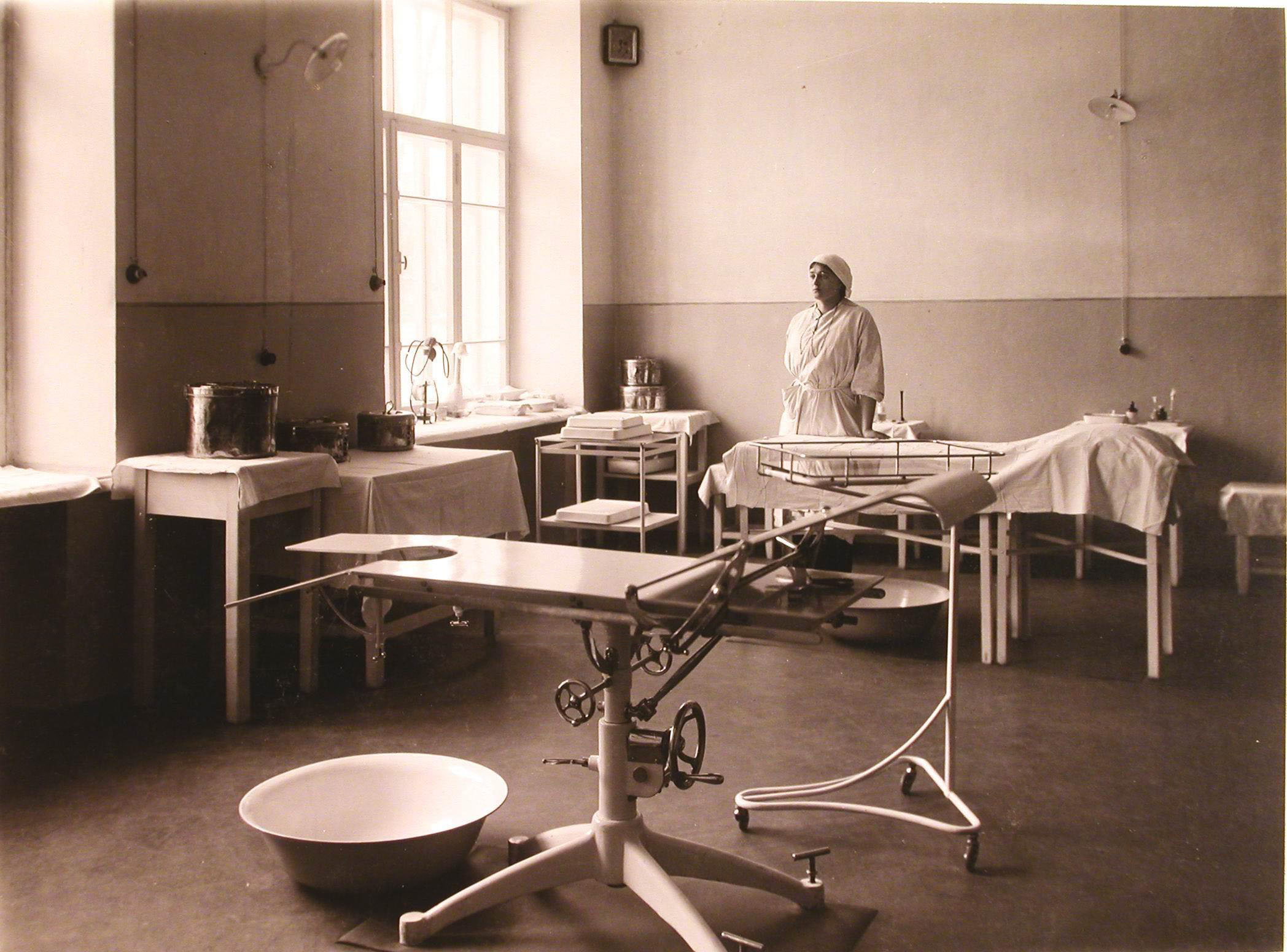 35. Общий вид операционной госпиталя №5