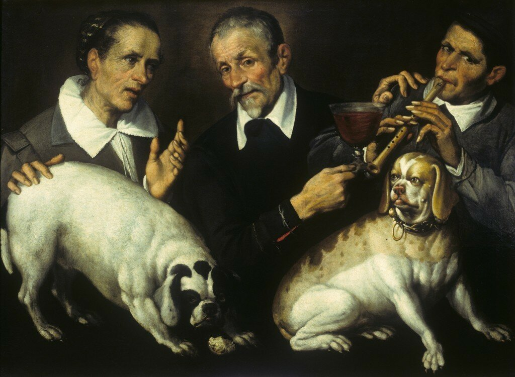 Bartolomeo_Passarotti_-_Three_men_with_two_dogs.jpeg