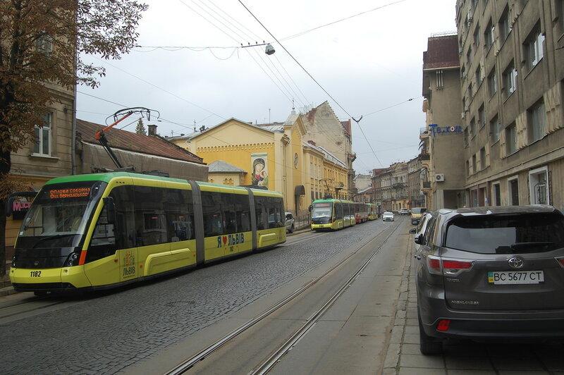 ул. Ивано Франко трамвайный затор