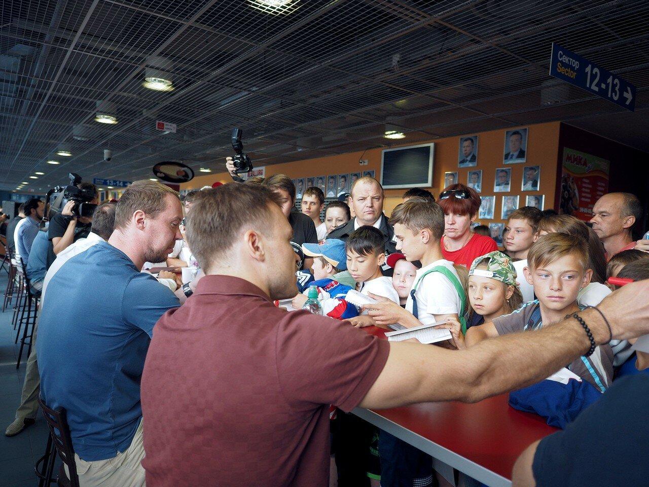 Встреча с болельщиками 20.08.2017