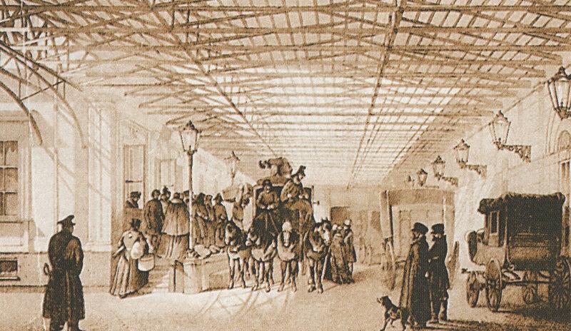 1850е «Дилижанс, курсировавший между Москвой и Петербургом».jpg