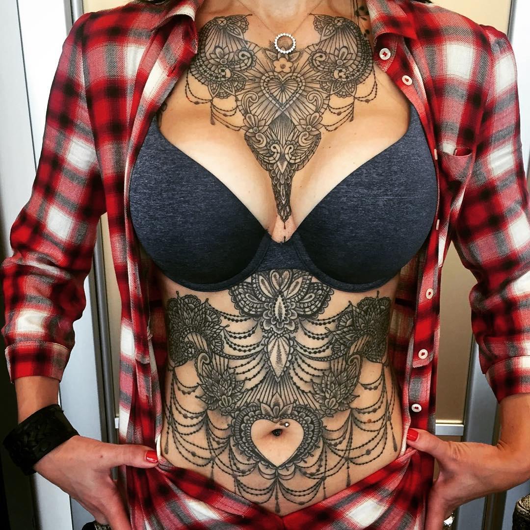 Женские татуировки от итальянского художника