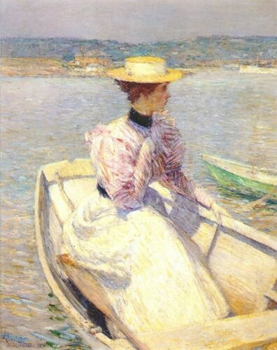 Фредерик Чайльд Гассамангл. Frederick Childe Hassam; 1859 — 1935  Белая рыбацкая лодка. Глочестер