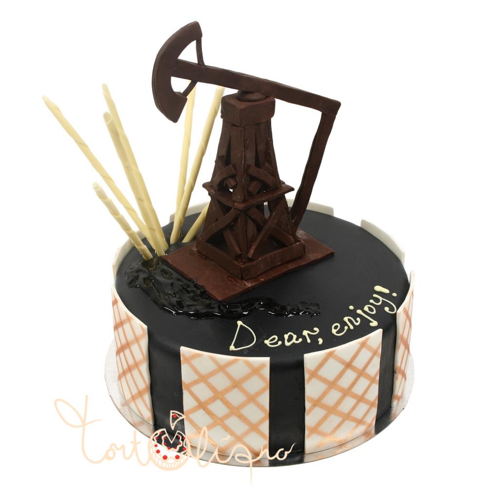 С днем нефтяника! Торт к празднику. Дорогой, наслаждайся!.JPG открытки фото рисунки картинки поздравления