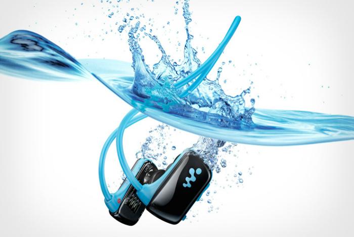 Портативный водонепроницаемый mp3-плеер Sony Для тех, кто любит слушать музыку в бассейне или во вре
