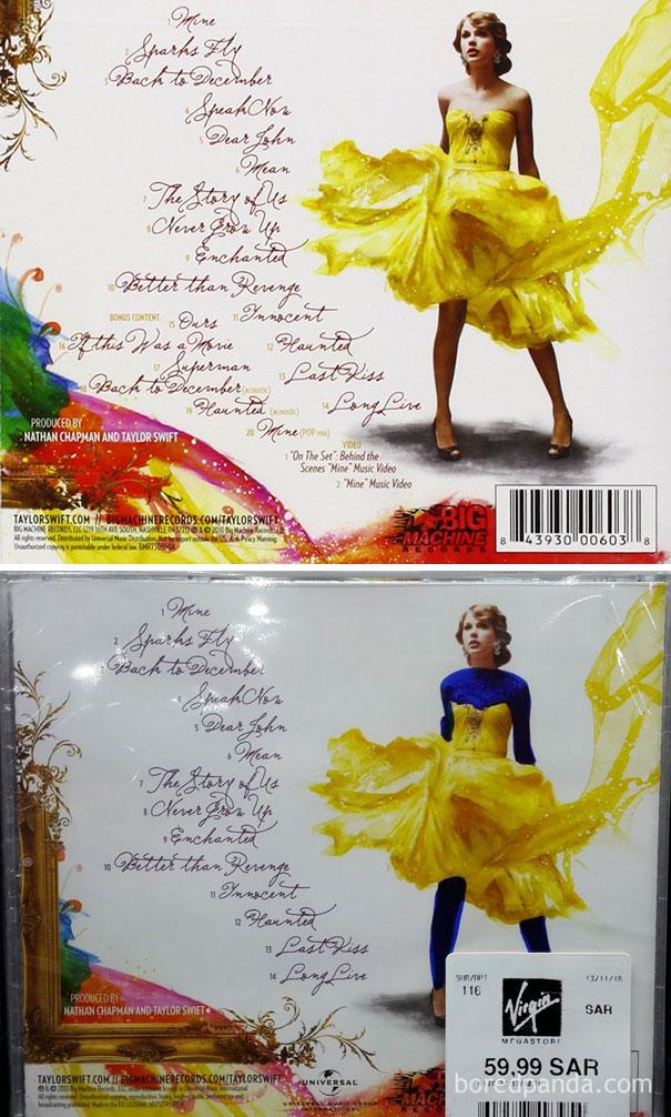Задняя сторона альбома Тейлор Свифт Speak Now.