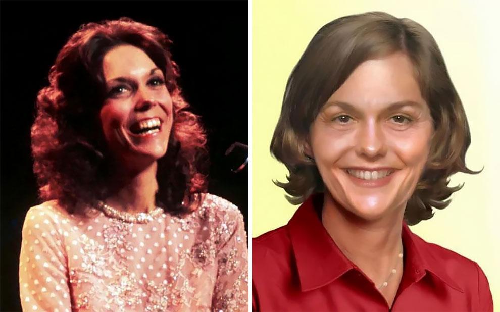 Карен Карпентер (2 марта 1950 — 4 февраля 1983), певица и барабанщик группы Carpenters, умерла в воз