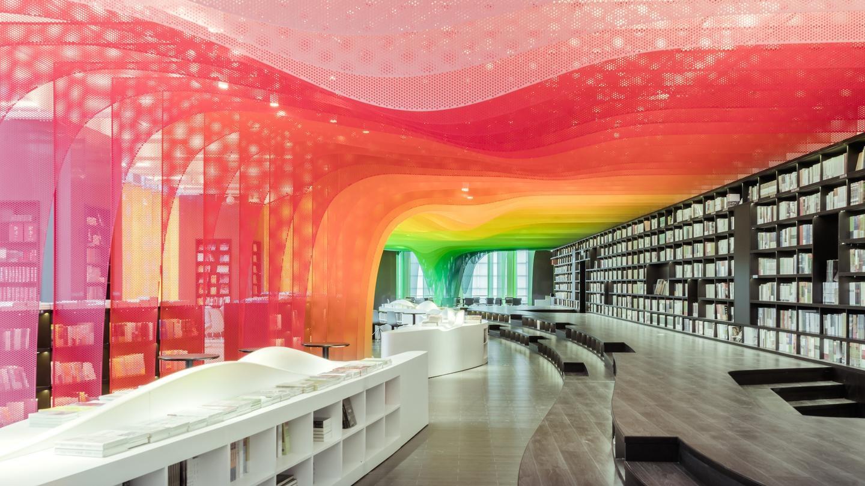 Разработкой дизайна удивительного книжного магазина занималась компания китайского архитектора и диз