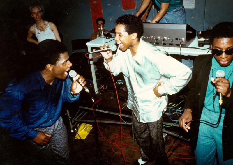 Dynamic 3 выступает в Лондоне, 1985 год.