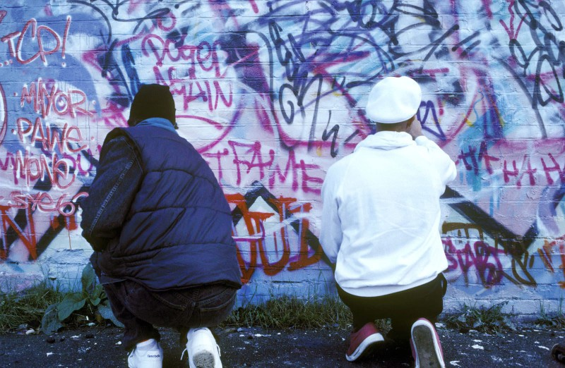 Граффити-художники, Нью-Йорк, 1977 год.