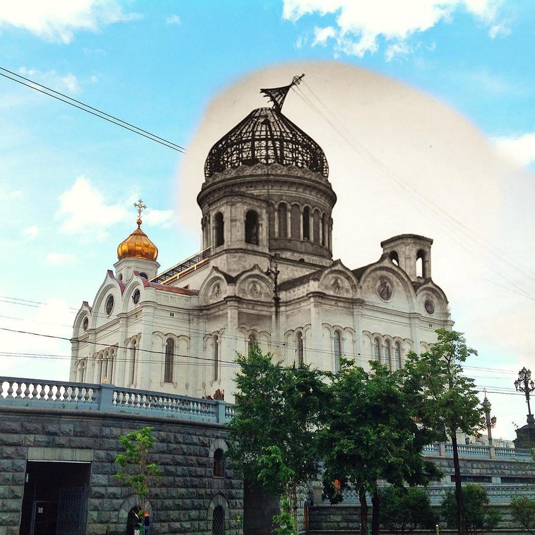 Две Москвы в одном кадре (20 фото)