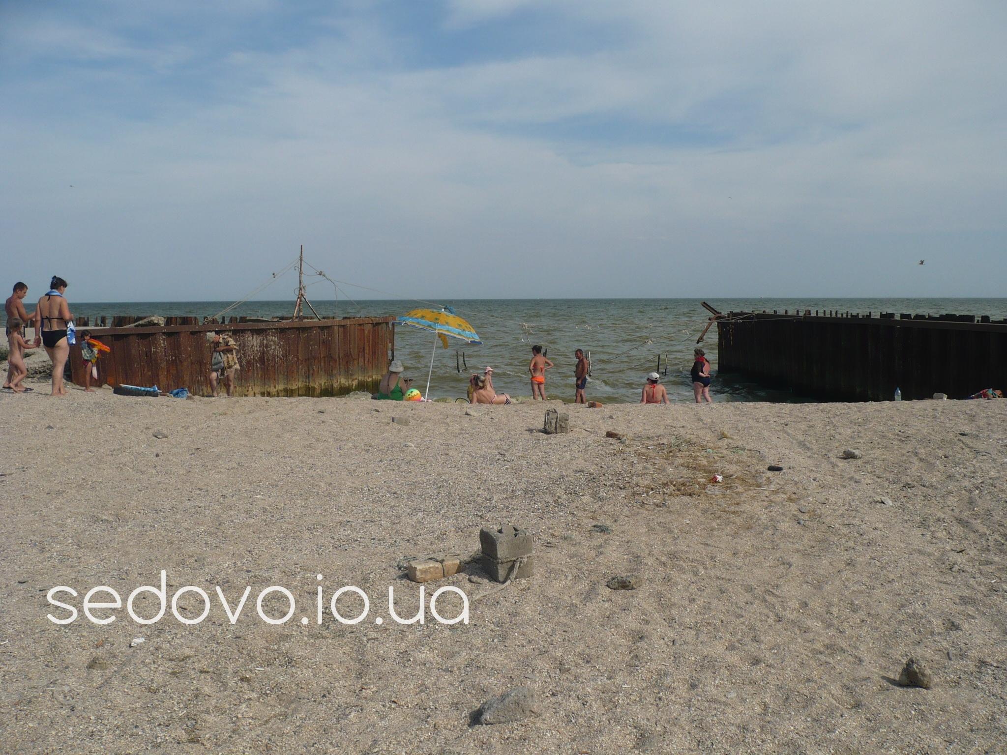 Пляжи Седово в центре города возле музея