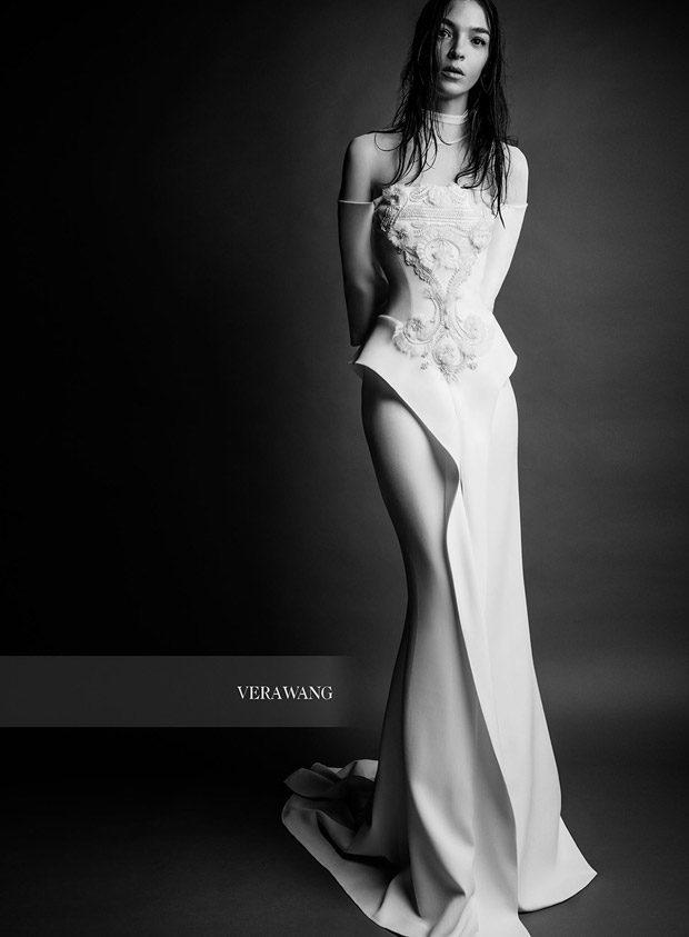 Mariacarla Boscono Models Vera Wang Bridal Spring 2018 Collection