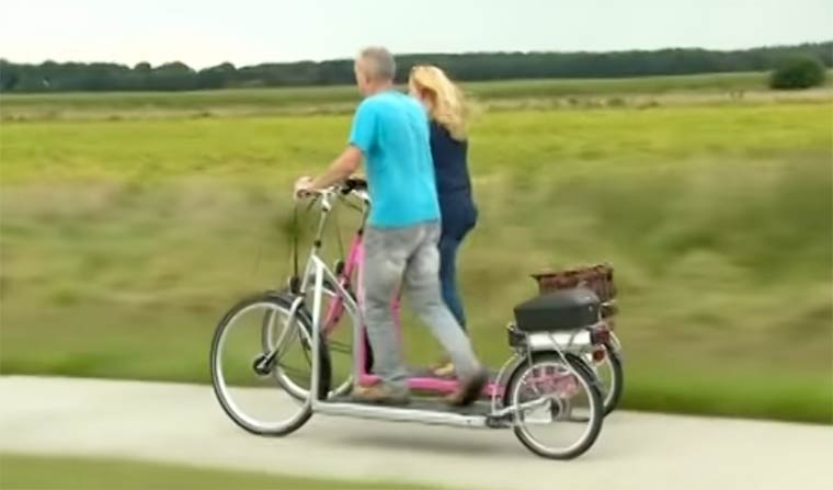Walking Bike – The improbable hybrid between the treadmill and the bike (7 pics)