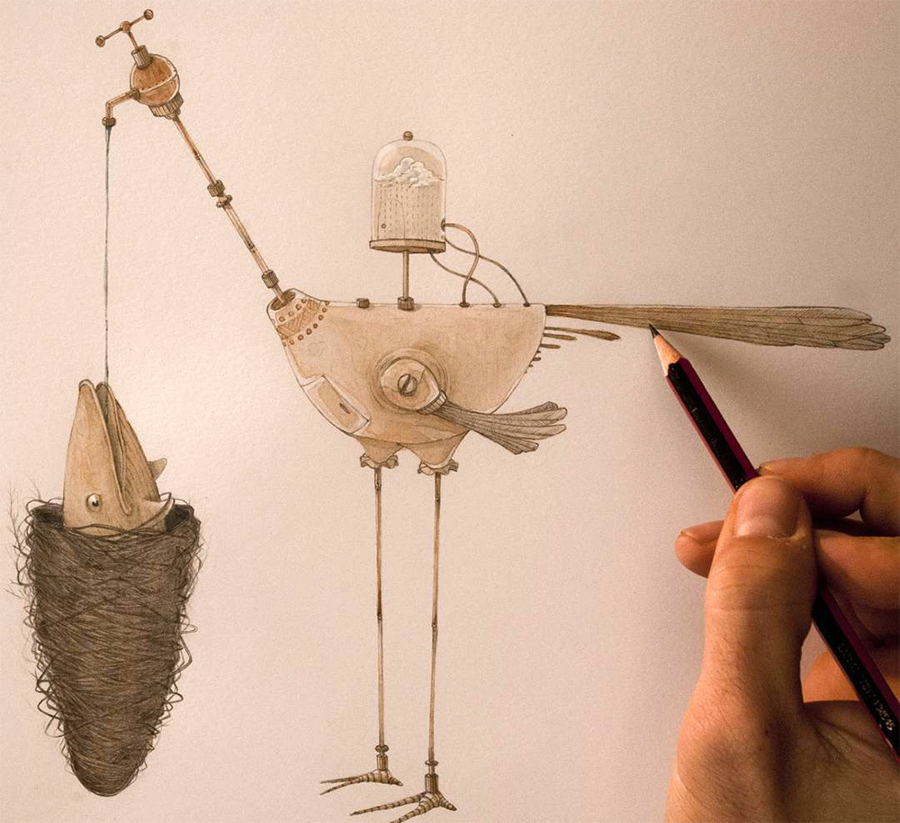 Whimsical Storybook Beasts and Birds Illustrated by Vorja Sanchez