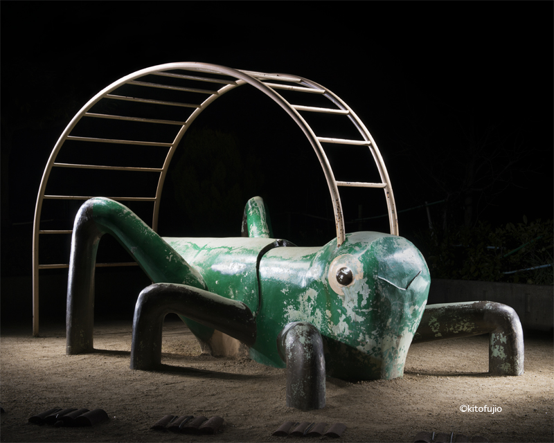 Photos of Japanese Playground Equipment at Night by Kito Fujio (10 pics)