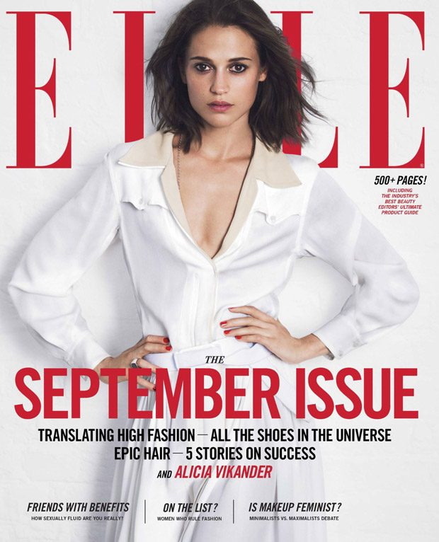 Alicia Vikander Stuns in Louis Vuitton for Elle US September 2017 Issue (1 pics)