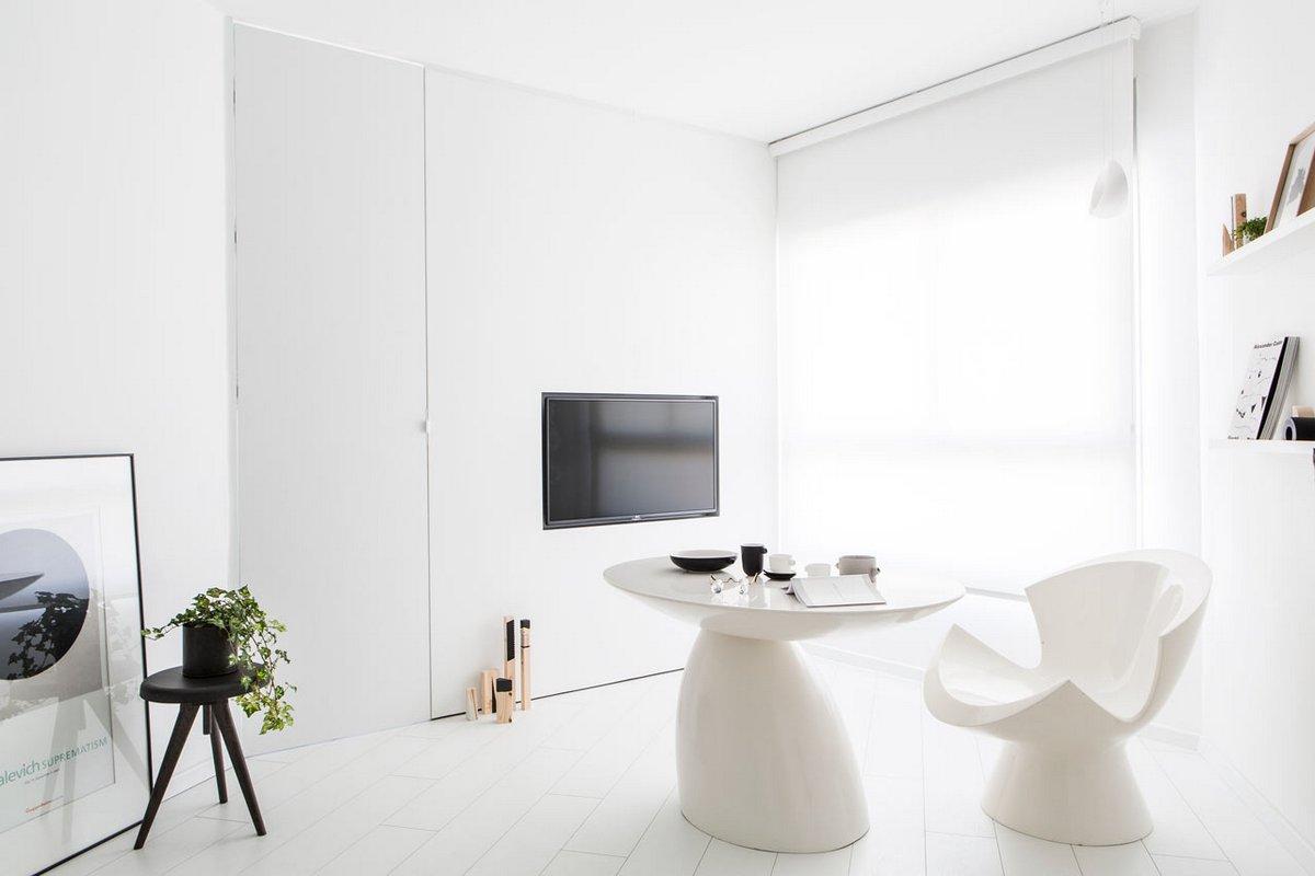 Белоснежный интерьер квартиры
