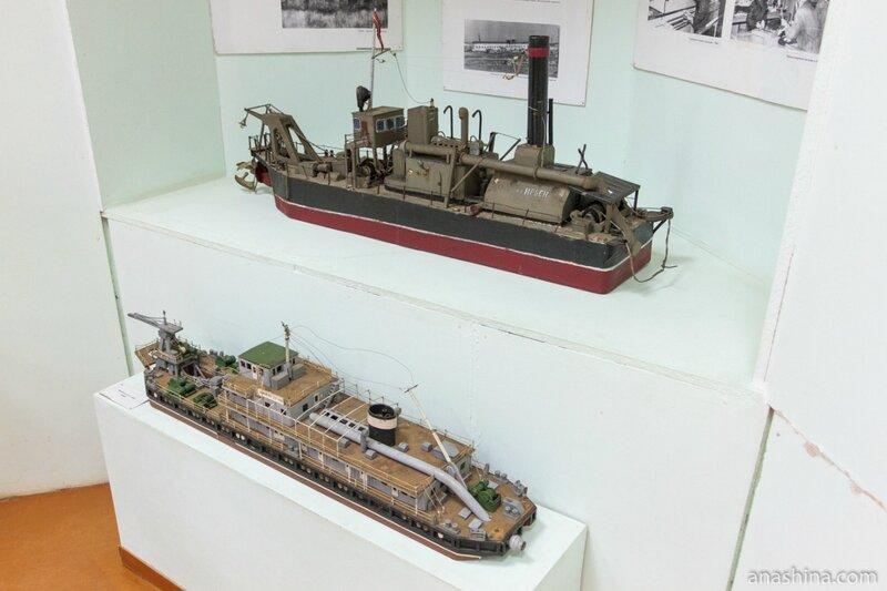 """Макеты судов, музей """"Водные пути Севера"""", Вытегра"""