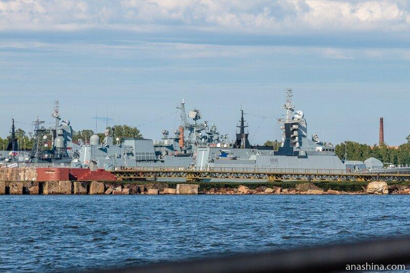 Корабли Балтийского флота ВМФ России в Средней гавани, Кронштадт