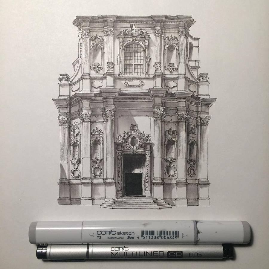 Accurate Miniature Architectural Illustrations