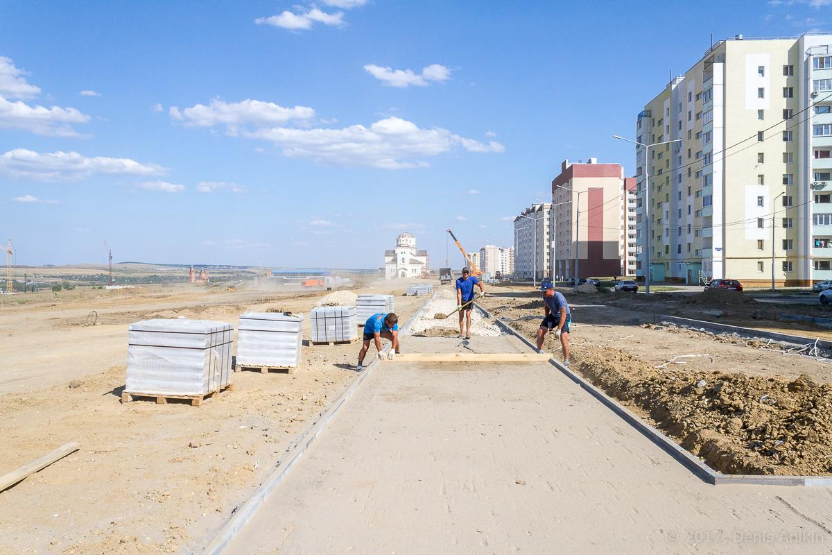 строительство бульвара в Солнечном-2 фото 13