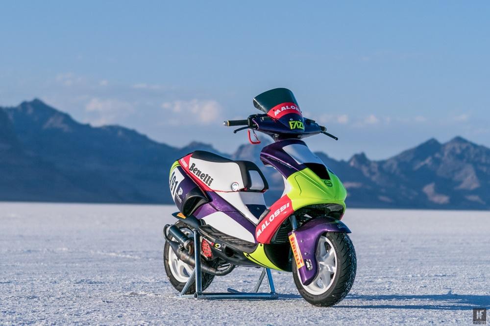 Скутер установил два рекорда скорости на Бонневилле