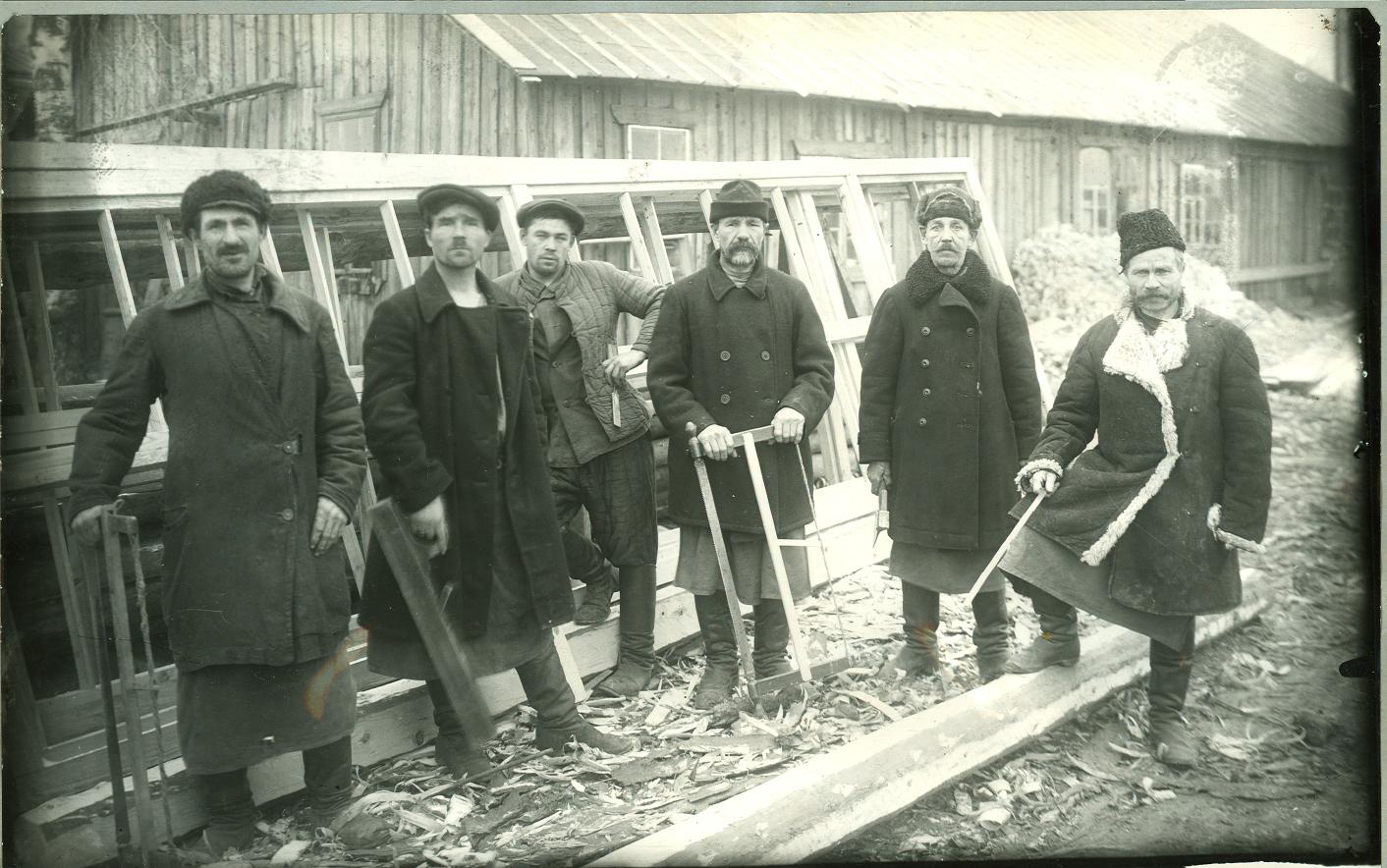 Столярная мастерская. 1913