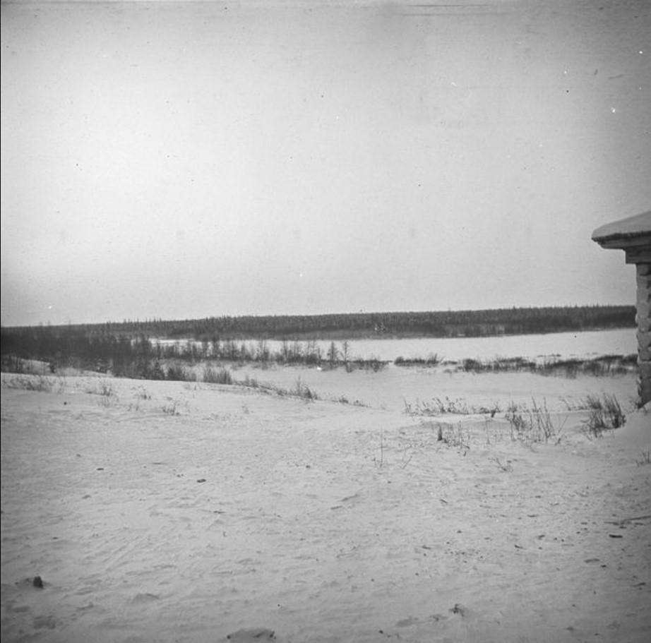 47. Река Тиса. Тасеевское. Зимний пейзаж, вид из церкви