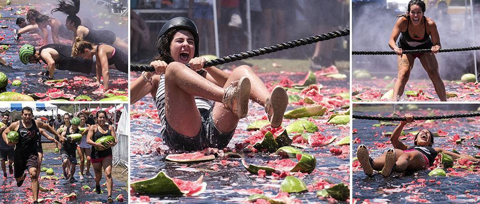 Фестиваль арбузов в Калифорнии