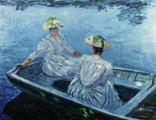 Oscar-Claude Monet; 1840 - 1926 Голубая весельная лодка 1887