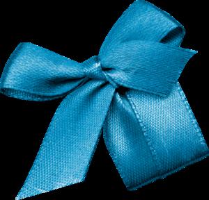 голубые банты