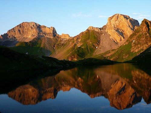 Загеданское озеро на закате