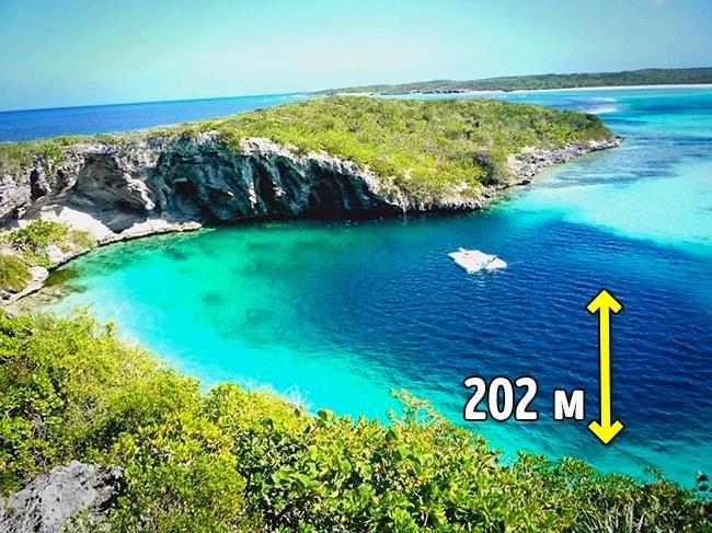 © JustiFly / Facebook  Голубая дыра Дина— самая глубокая насегодня голубая дыра вмире. Нахо