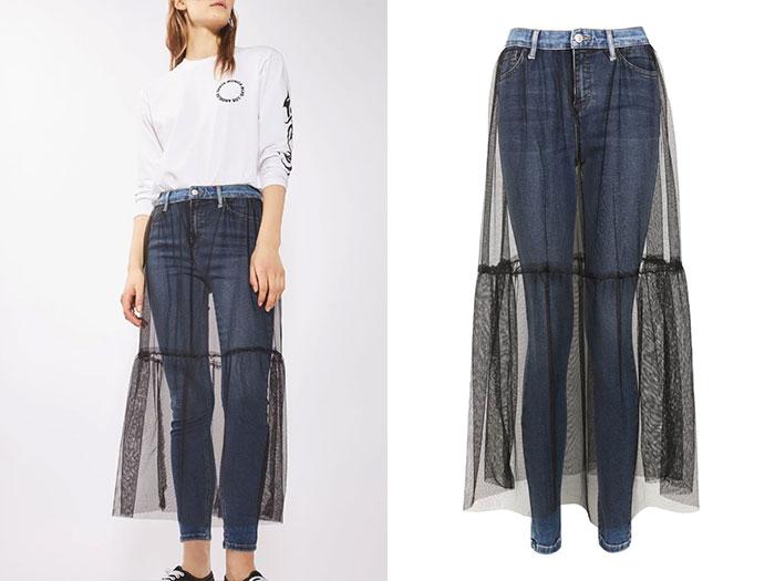 Юбка-джинсы от Top Shop.