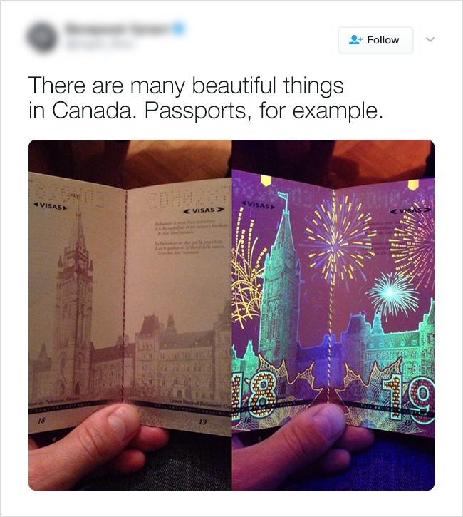 В Канаде все красивое. Даже паспорта.