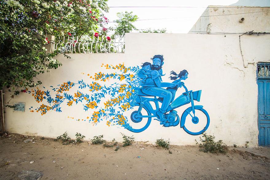 150 художников превратили тунисский городок в настоящий музей уличного искусства
