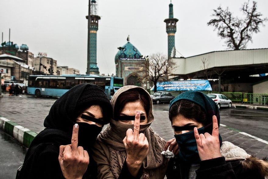 Иранские подростки.
