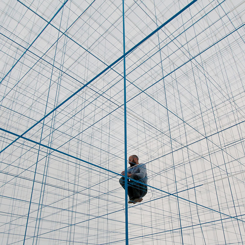A Massive Inflatable String Jungle Gym by Numen/For Use