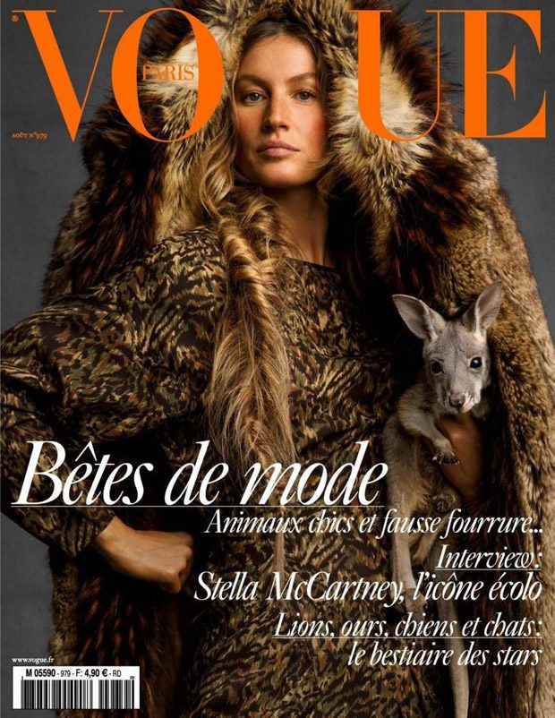 Gisele Bundchen is the Cover Star of Vogue Paris August 2017 Issue