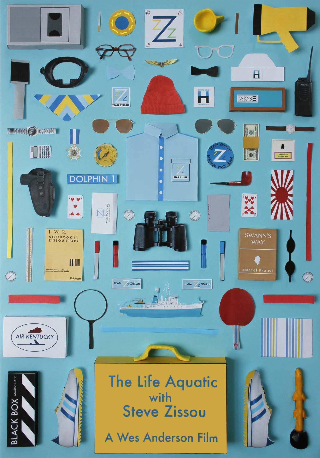 The iconic objects of cult movies together in a new poster series