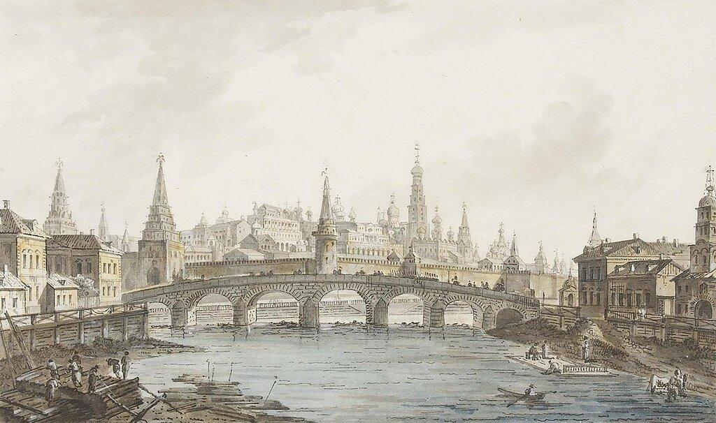 Ф. Я. Алексеев Вид на Кремль из-за Каменного моста 1800-е.jpg