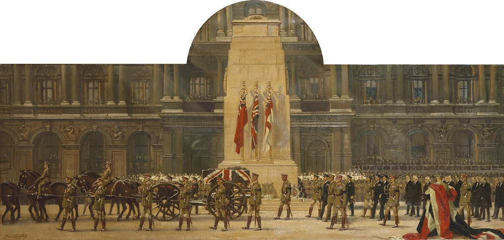 The Passing of the Unknown Warrior, King George V Chief Mourner, Whitehall, 11 November 1920.jpg