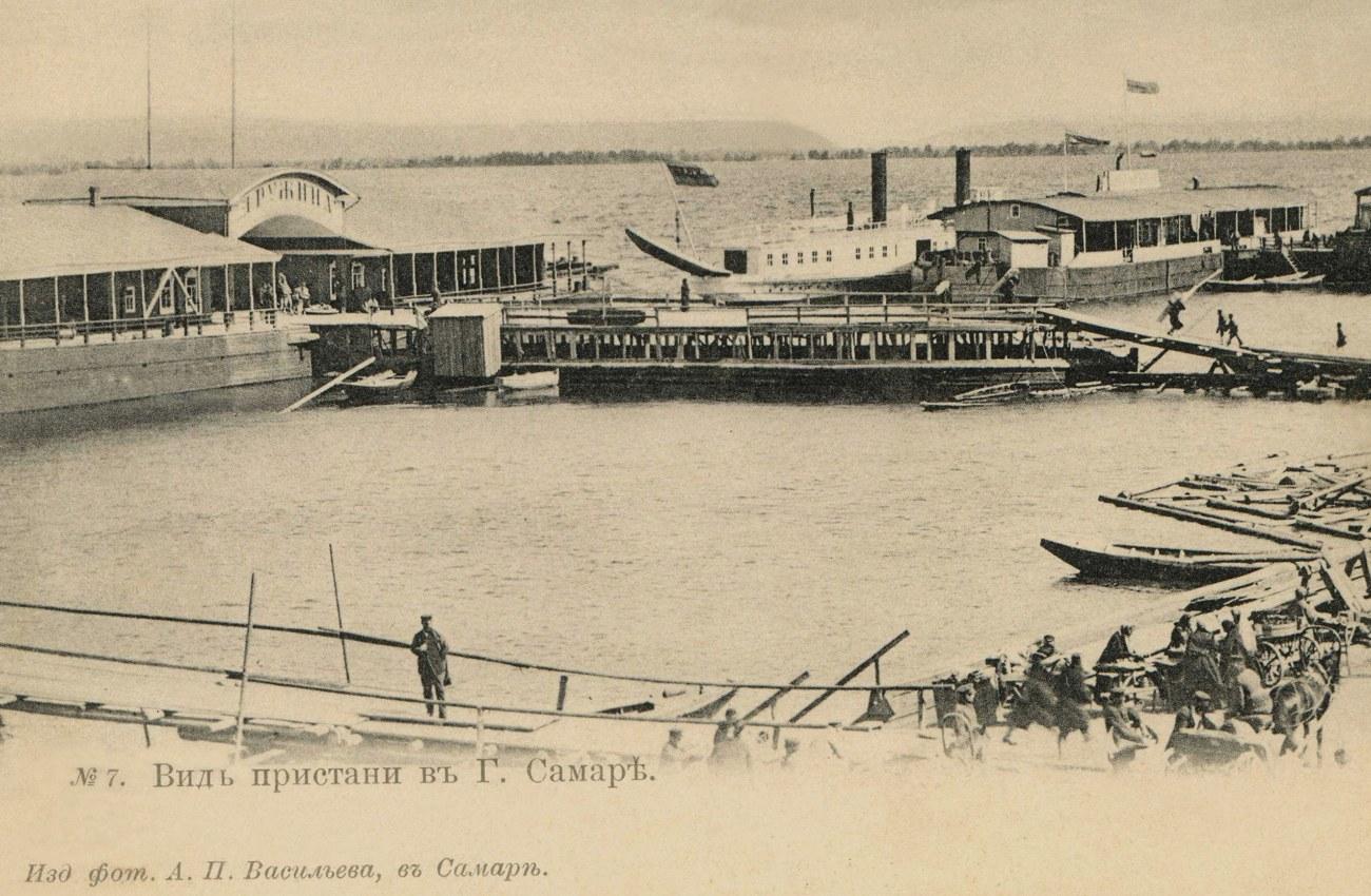 Вид пристани в Самаре