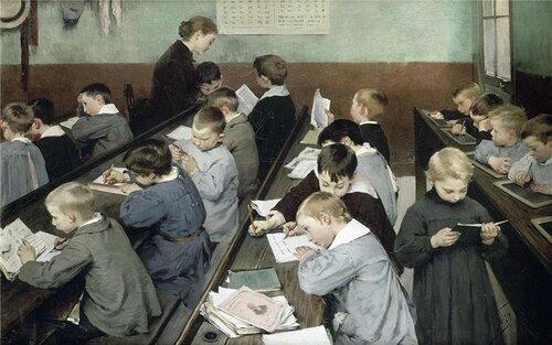 Henry Jules Jean Geoffroy En classe, le travail des petits