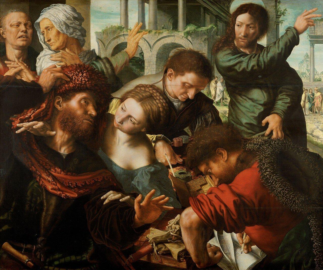 1548 (ок)_Призвание Матфея (The Calling of Matthew)_114 х 137_д.,м._Вена, Музей истории искусств..jpg